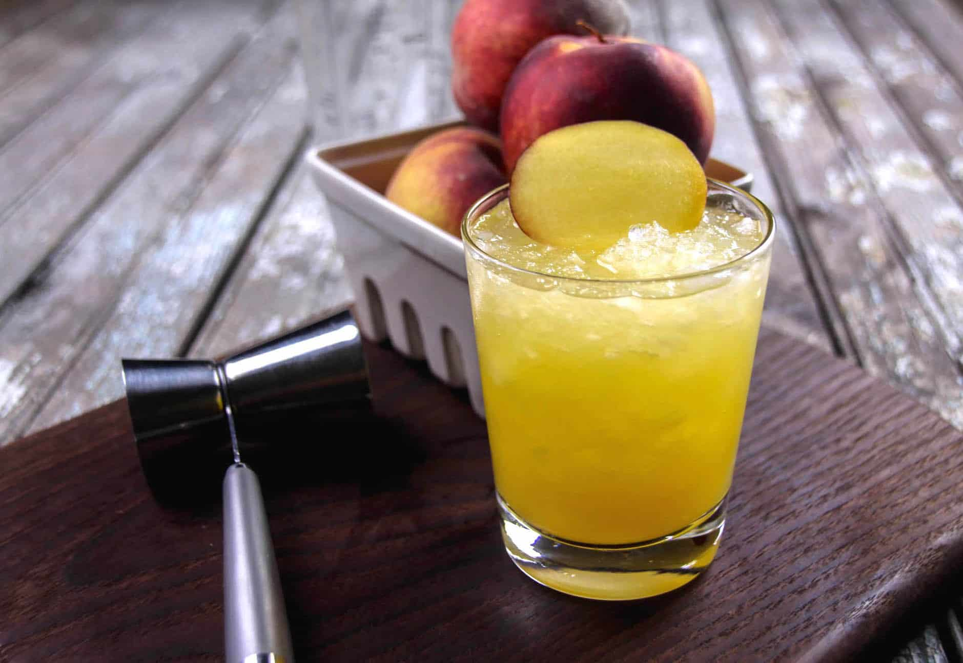 Take the classic screwdriver recipe and make it peachy and delicious for summer! You're going to love the fruit flavored vodka and yummy nectar within.