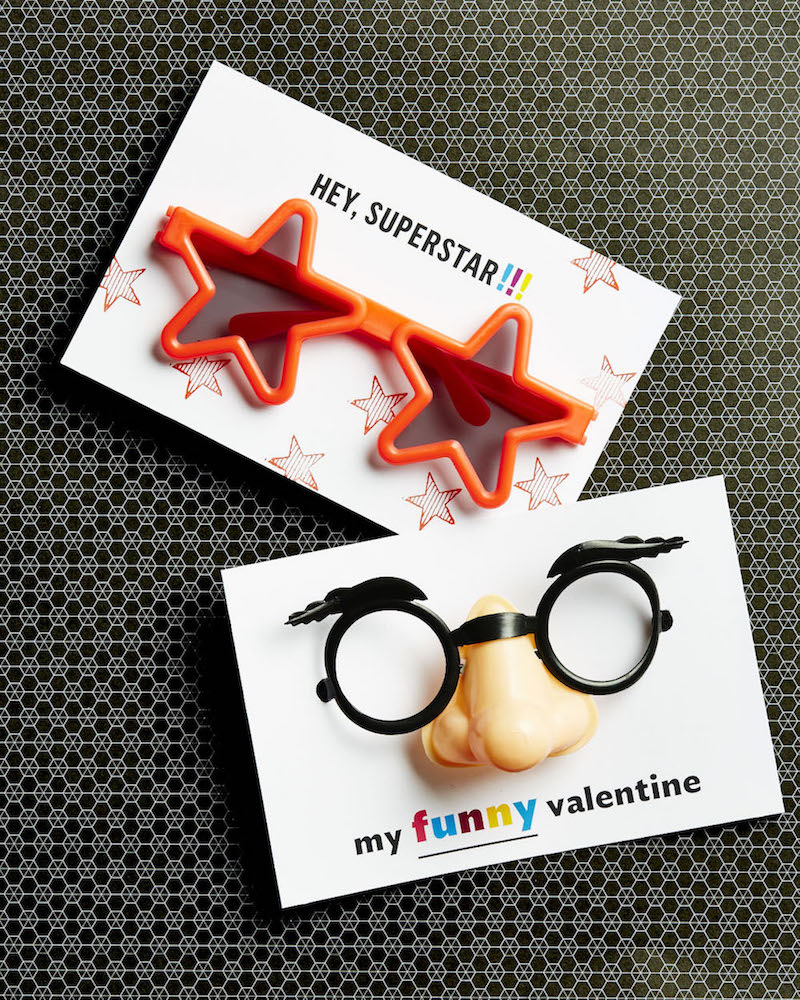 Silly Glass Valentines for Kids with free printable