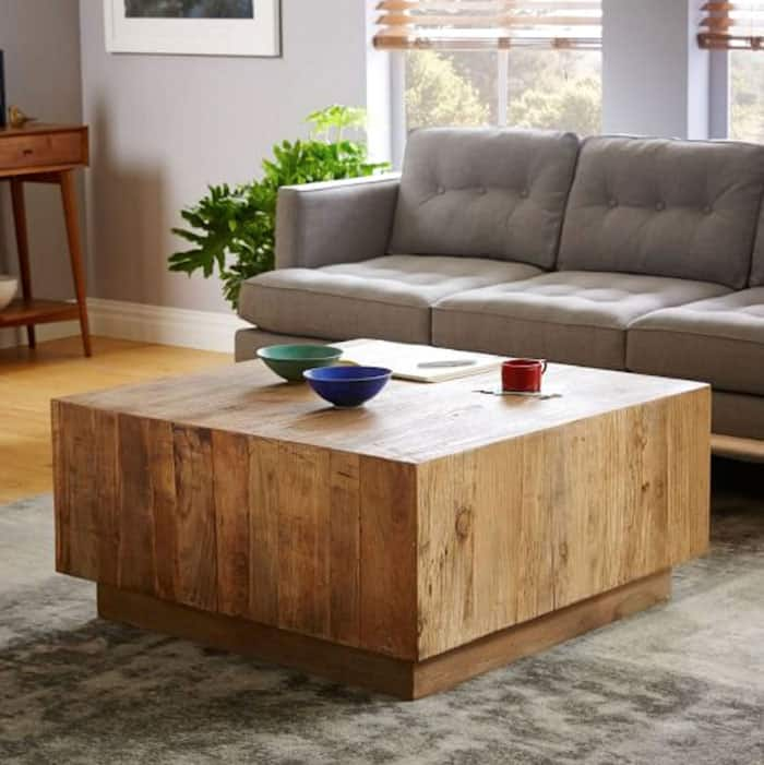 West Elm Inspired DIY Coffee Table - diycandy.com