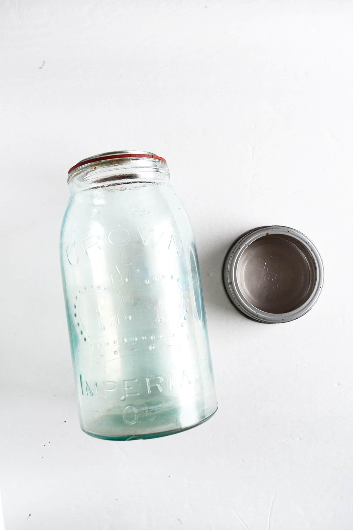 Vintage mason jar grown imperial