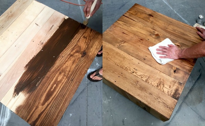 wax and stain
