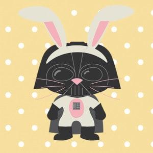 Free Printable Star Wars Easter Banner