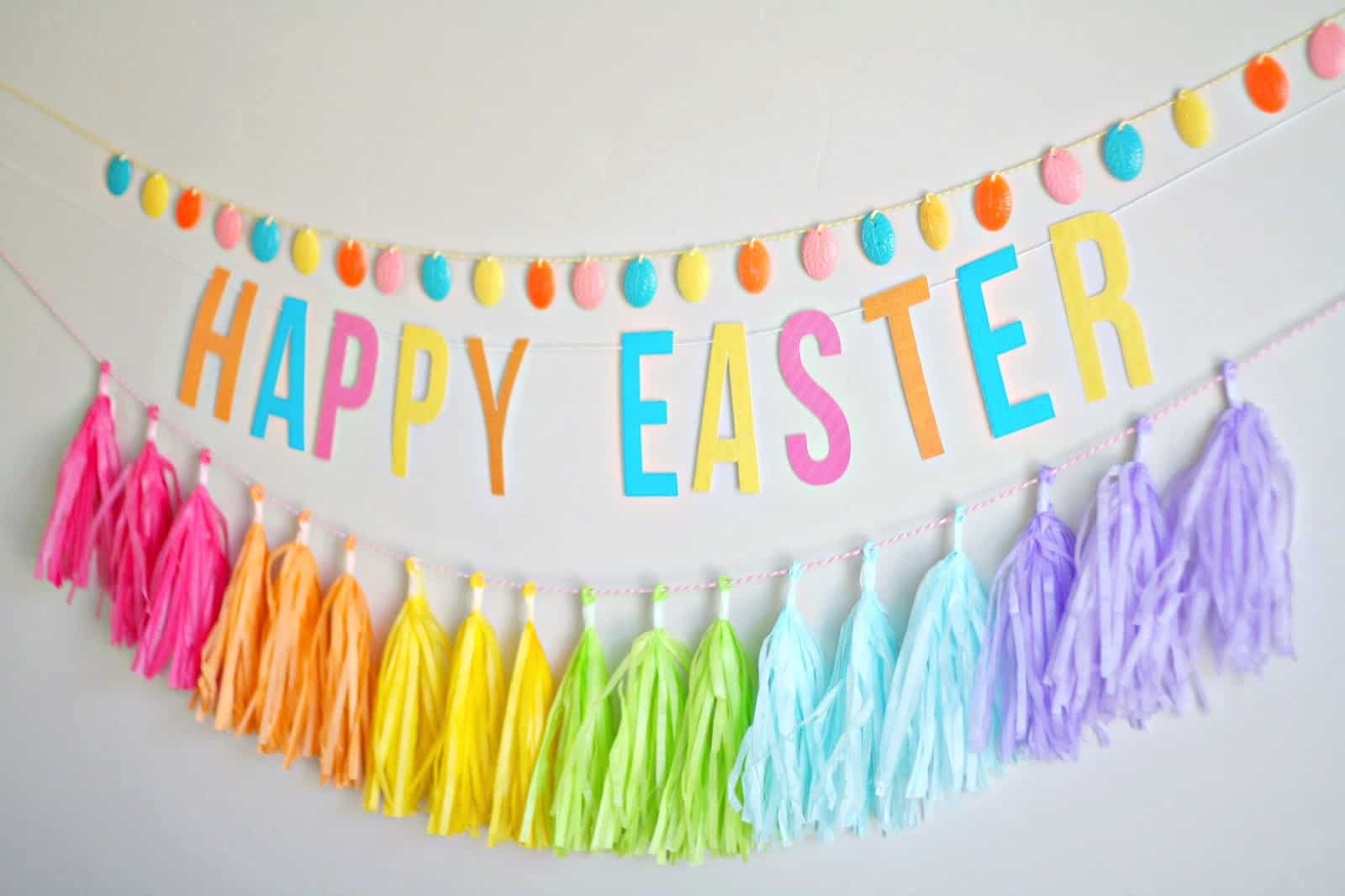 Learn how to make a simple and colorful DIY egg garland using Mod Molds and Melts. This is such a fun and easy Easter craft idea! Customize for any holiday.