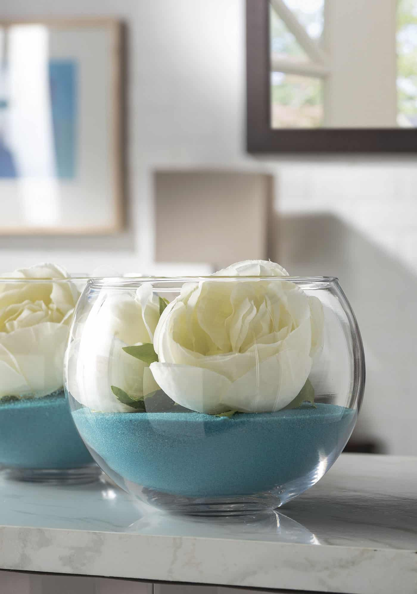 simple wedding centerpieces diy with glass bubble bowls