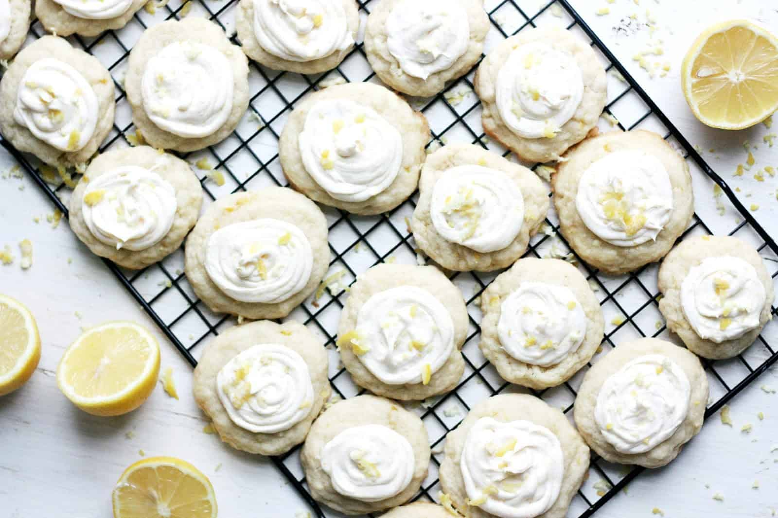 These lemon cookies are moist, chewy and creamy, with the perfect sweet flavor, making your insides feel as springy as the tulips popping up outside.