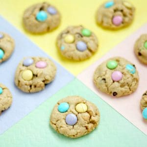M&M Loaded Easter Cookies