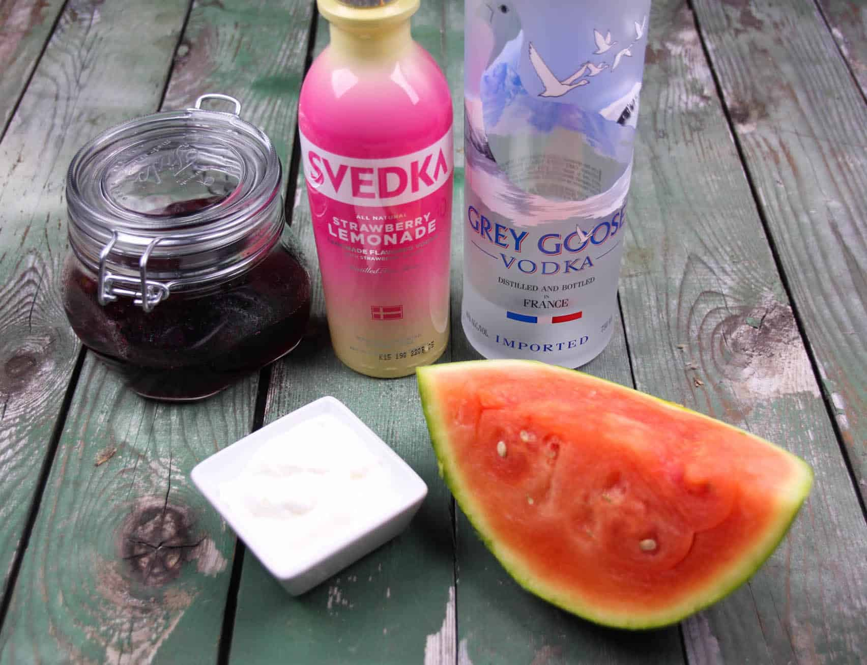 This strawberry and watermelon vodka cocktail is the perfect beverage for summer! It's tasty, sweet, and refreshing . . . the whipped cream is optional!