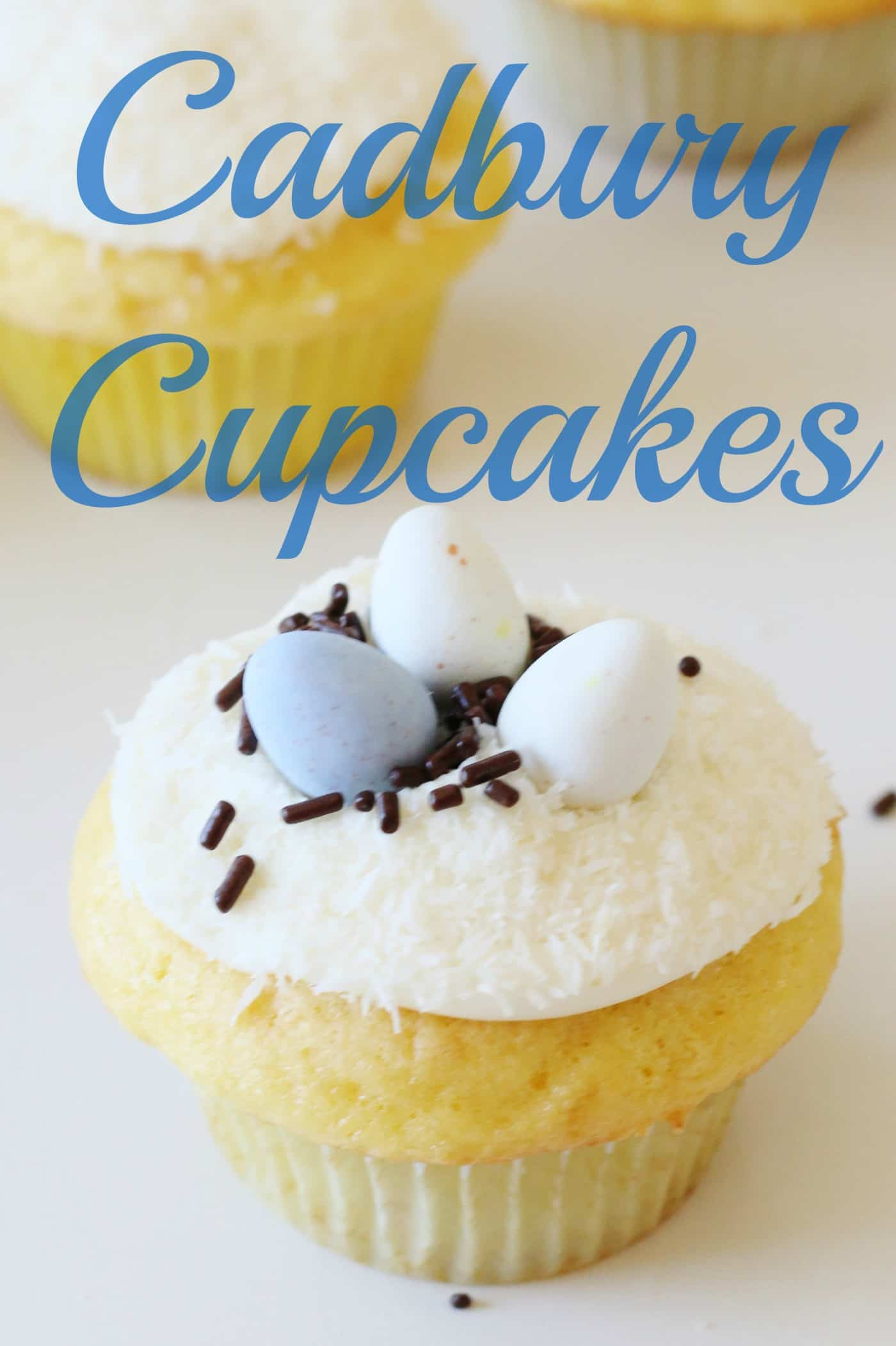 Easy Easter Cupcakes with Cadbury Eggs
