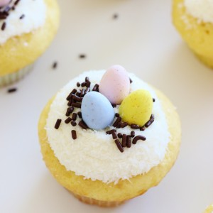 Easy Easter Cupcakes with Cadbury Eggs