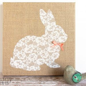 Lace Bunny Canvas Easter Craft