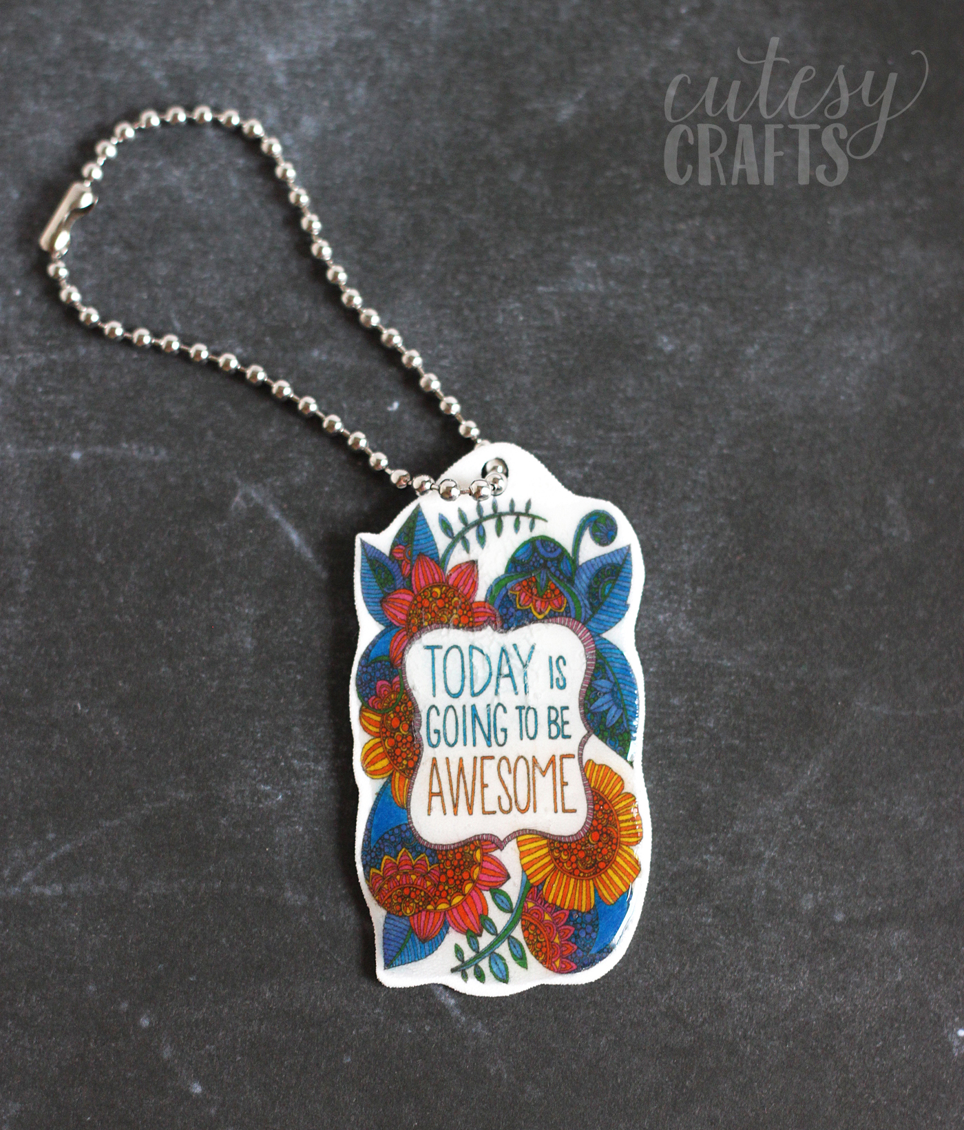 What do you do when your coloring page is done? Make something! Here's a tutorial to turn those pages into Shrinky Dink keychains!