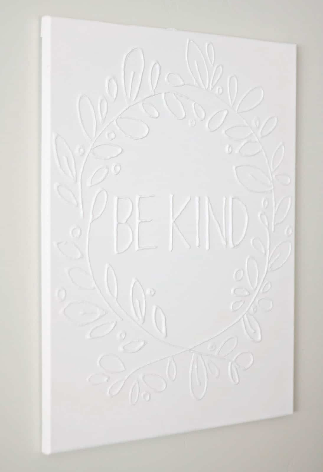 This Is The Easiest Canvas Wall Art Project Youu0027ll Ever Make   All You