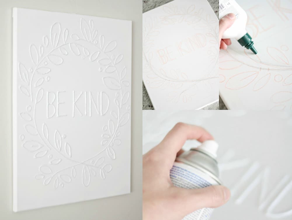 Canvas Wall Art with Glue