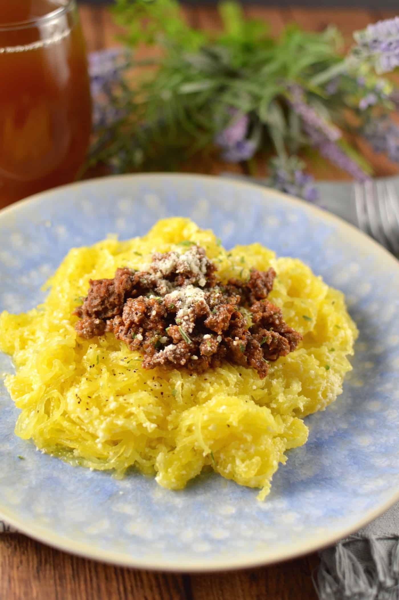 instant pot spaghetti using spaghetti squash