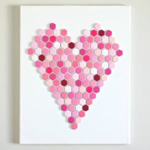 DIY Hexagon Tile Heart Art