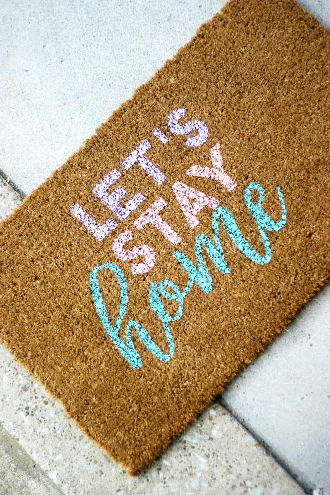 Cute Personalized Door Mat - DIY Candy