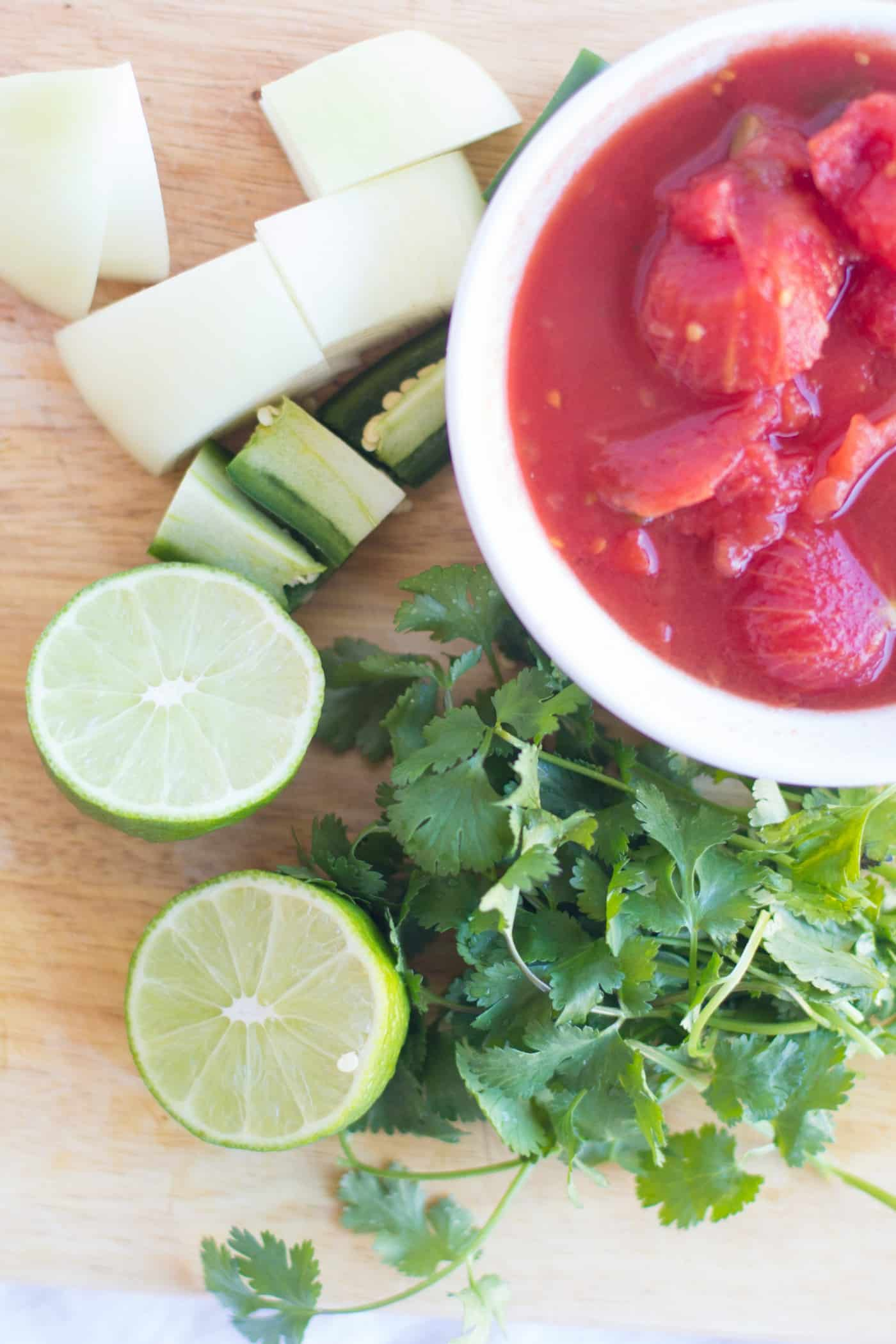 Who doesn't love chips and salsa? This tomato salsa recipe is absolutely delicious and SO easy to make in the blender. It will be a family favorite!