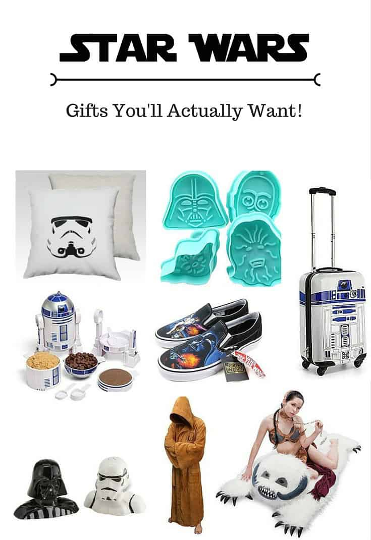 This is collection of Star Wars gifts that you'll actually use! Get great suggestions for wearables along with other fun ideas for the super fan.