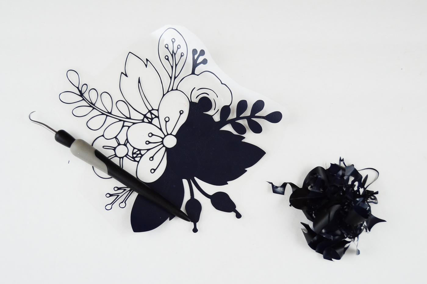 Floral Coloring Book Styled DIY Tea Towel - diycandy.com