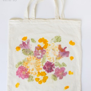 Mother's Day Gift: Pounded Flower Tote