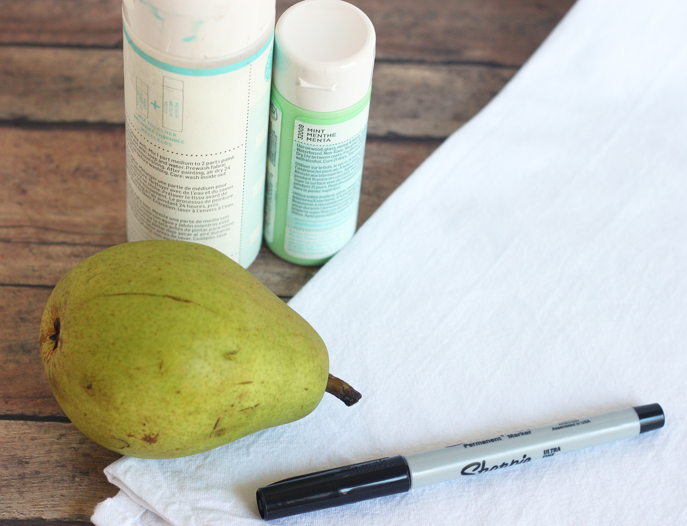Supplies for fruit stamping