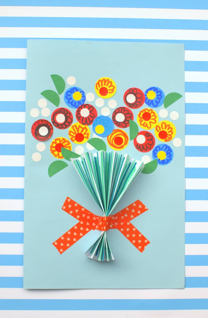 Floral Handmade Mother's Day Card - diycandy.com