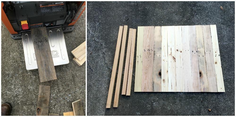 Camper pallet art step 3