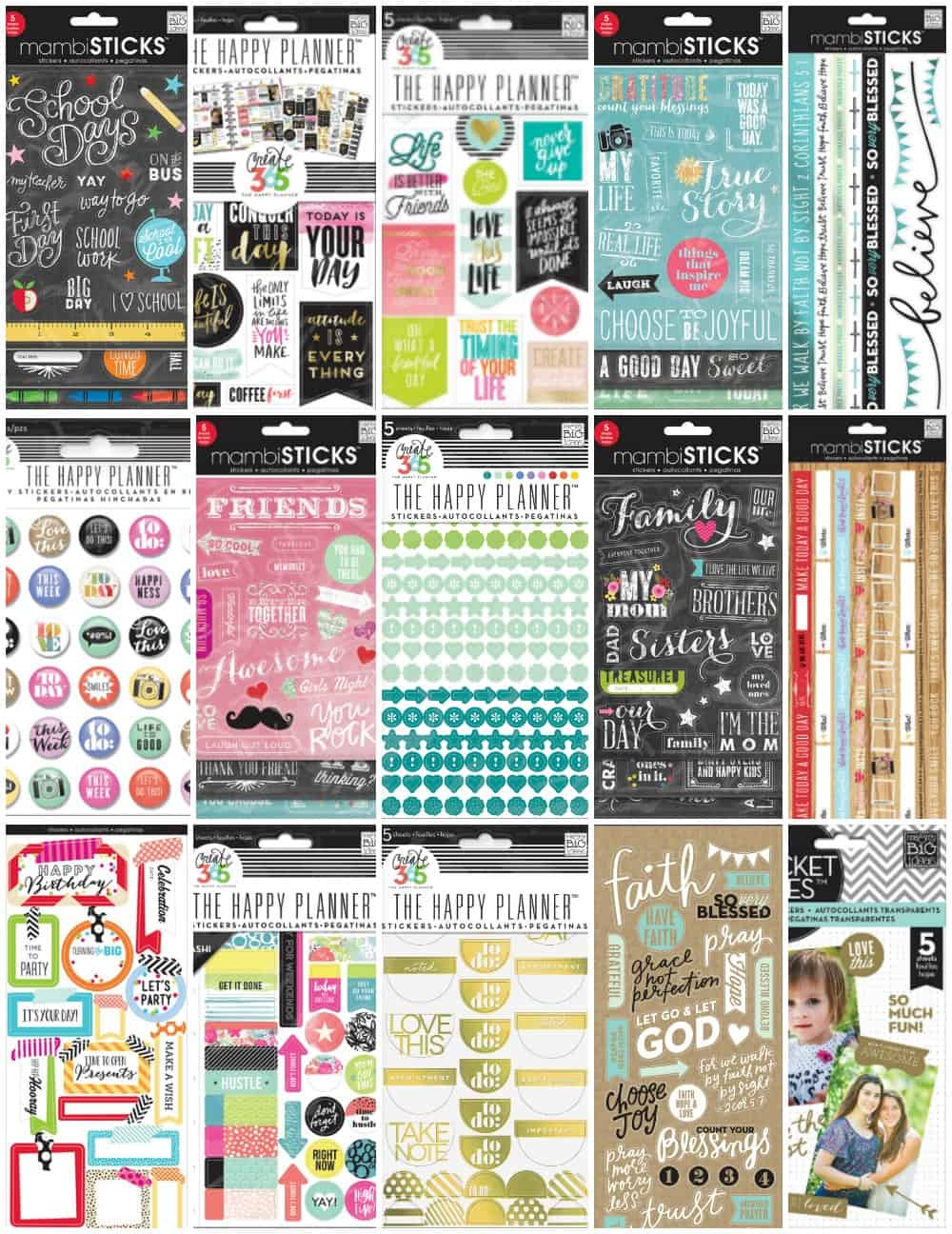 Cool happy planner stickers