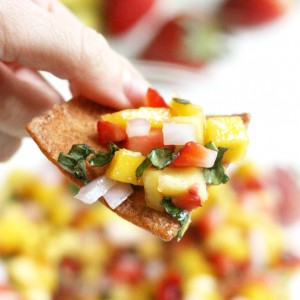 Strawberry Mango Salsa with Basil