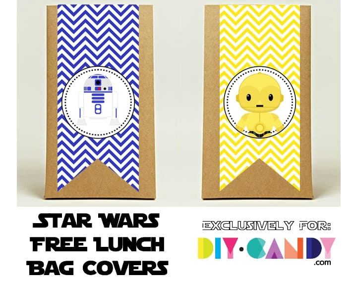 Free Star Wars Printables - Lunch Bag Covers 2