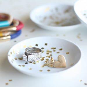 DIY Confetti Jewelry Holder