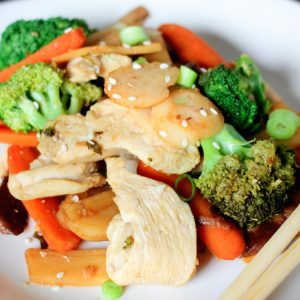 Healthy stir fry recipe with chicken