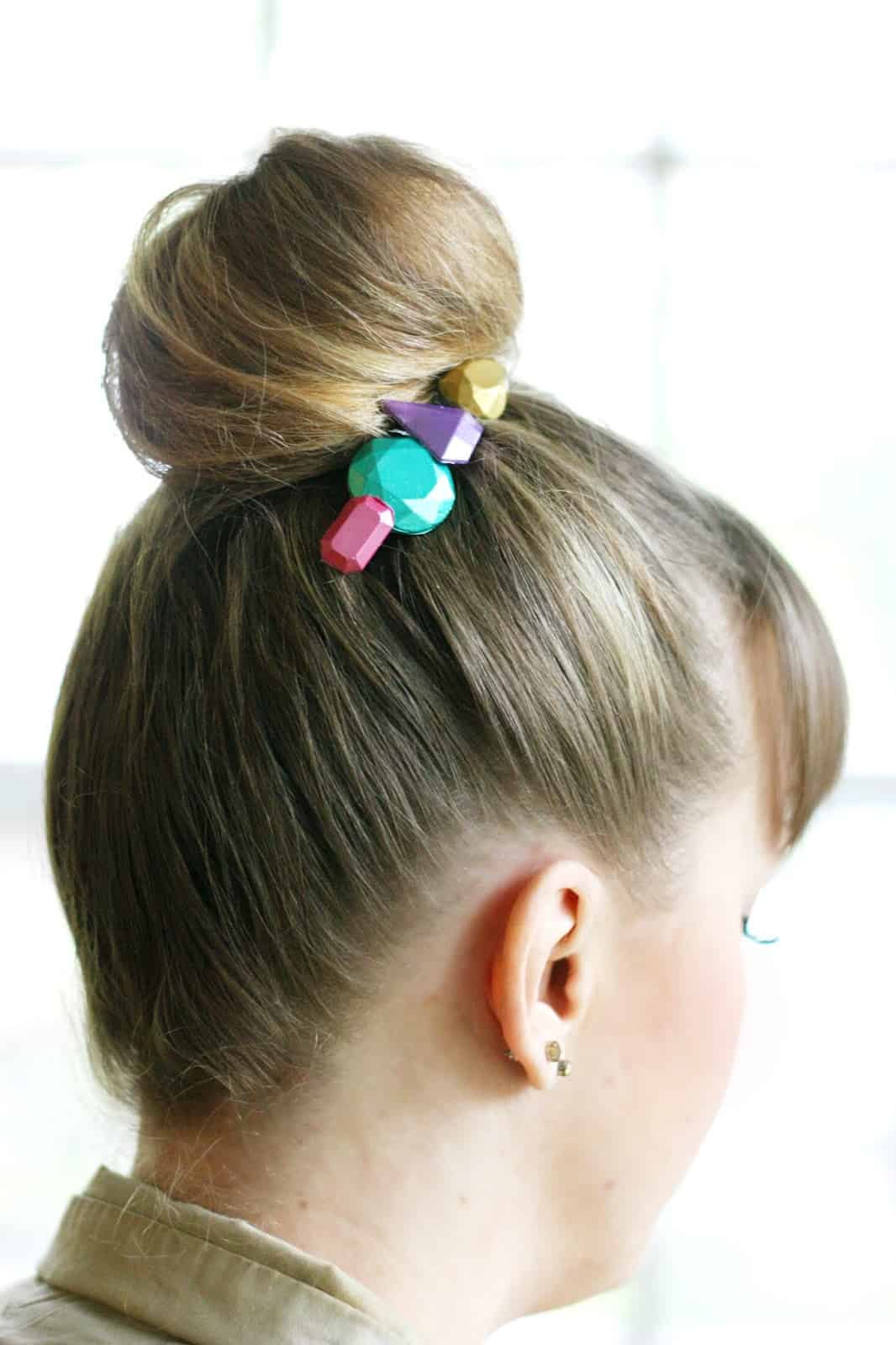 """Create your own hair accessories with Mod Melts and Molds! You'll love these rainbow faux """"gems"""" - you can make a ton of them at once. They make great gifts!"""