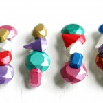 """Create your own hair accessories with Mod Melts and Molds! You'll love this rainbow faux """"gems"""" - you can make a ton of them at once. They make great gifts!"""