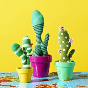 Make Faux Cacti from Socks