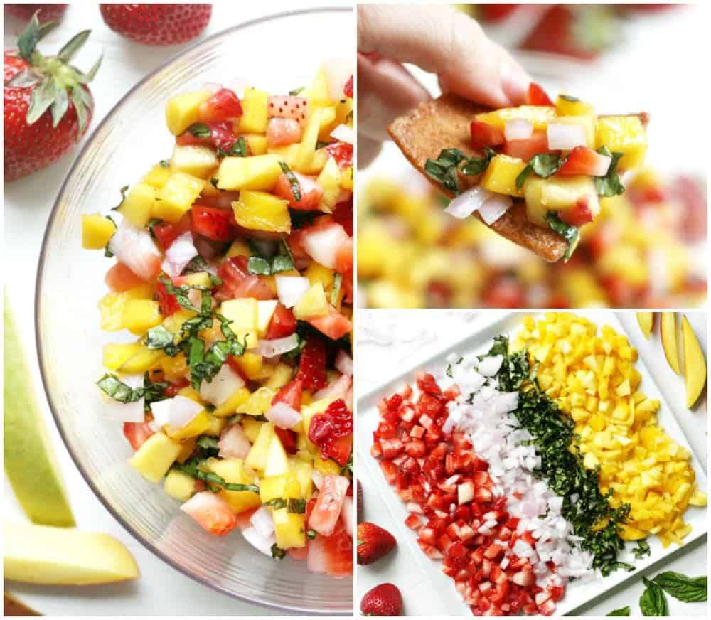 Strawberry Mango Salsa Recipe Collage