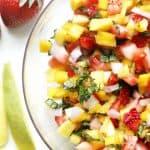 Strawberry Mango Salsa Recipe in a Bowl