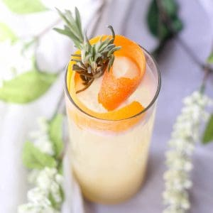 Orange & Grey Coconut Cocktail