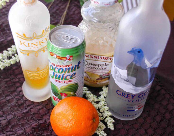 Orange and Grey Coconut Cocktail