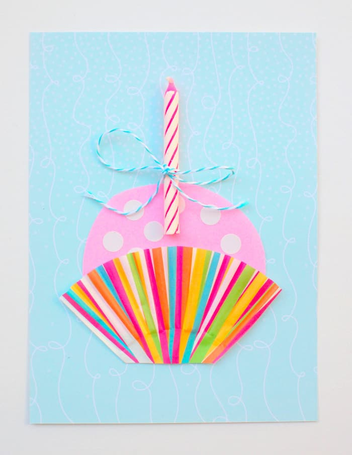 Cute Cupcake Diy Birthday Card In Minutes Diy Candy