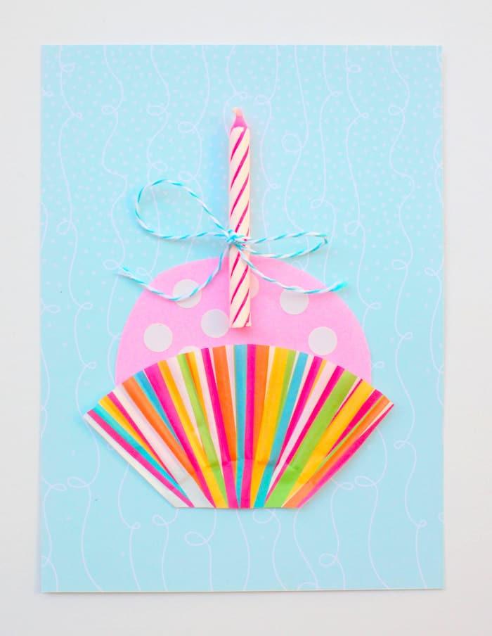 Cute Cupcake DIY Birthday Card - diycandy.com