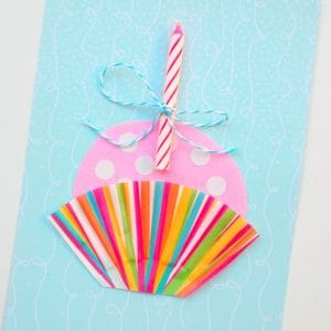 Cute Cupcake DIY Birthday Card