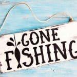 DIY Gone Fishing Sign