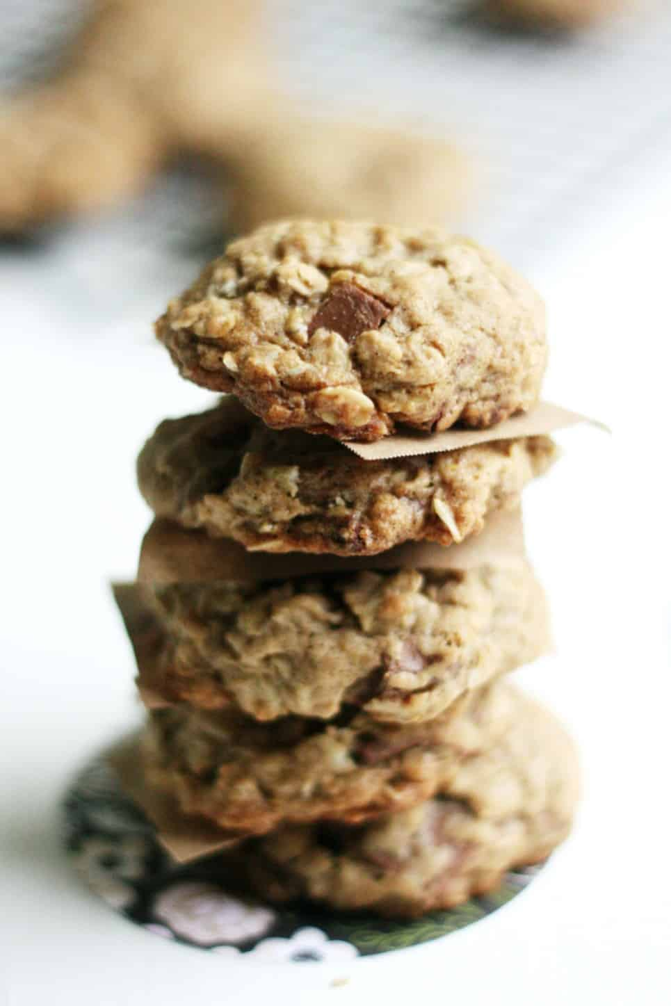 (The Best EVER) Oatmeal Chocolate Chip Cookies