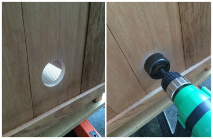 Doorknob hole