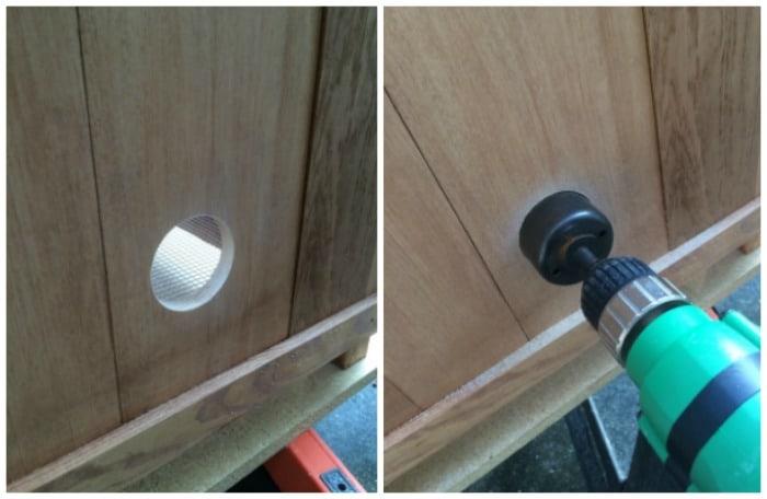Doorknob hole