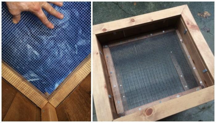 Hardware cloth installation