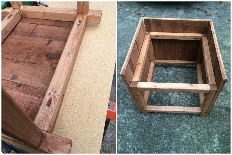 Hose caddy assemble side panels