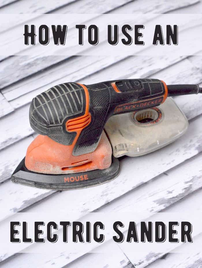 How to use an electric sander