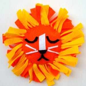 Summer Camp Felt Animal No Sew Pillows